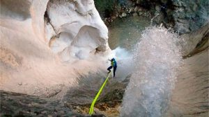 Last abseiling in Tunez gorge