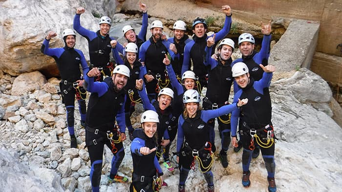 having fun with canyoning