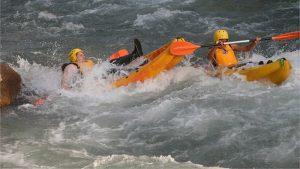 white water kayaking in cazorla