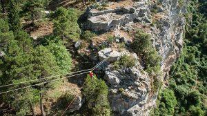 Gold multi adventure in Cazorla. Zip line
