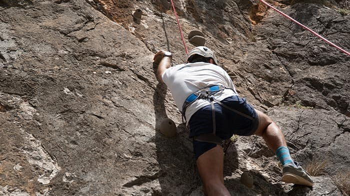 Rock climbing in Cazorla