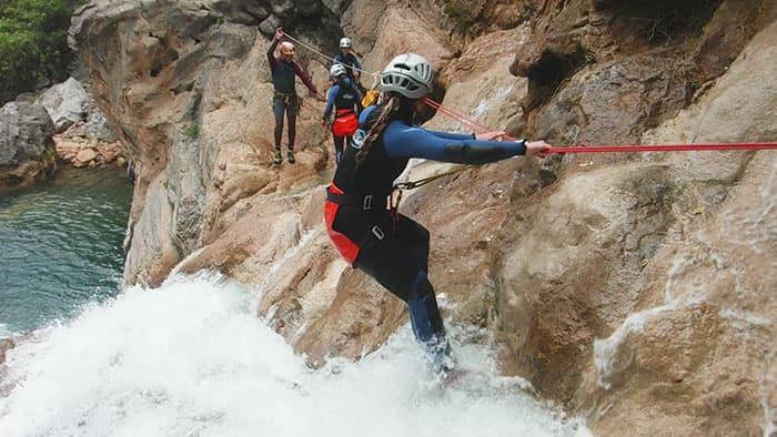 Handle rail in upper guadalquivir gorge