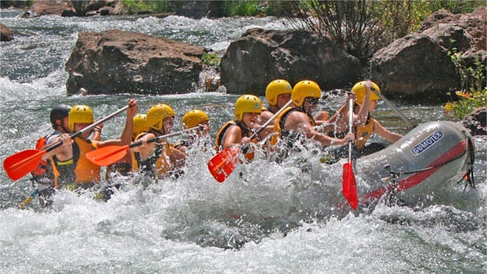 White water rafting in the upper guadalquivir