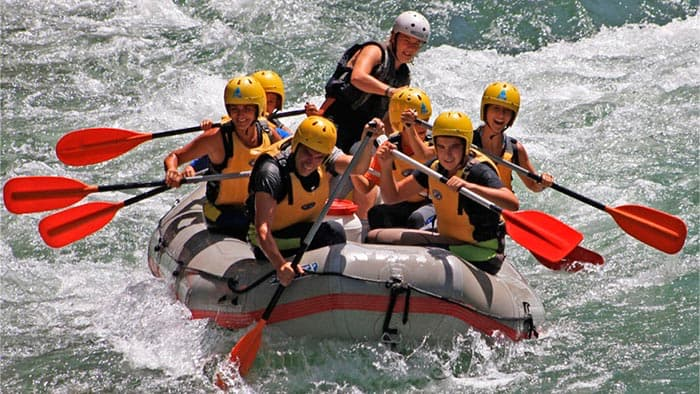 Rafting on the river Guadalquivir
