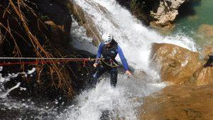 Absailing in upper guadalquivir gorge