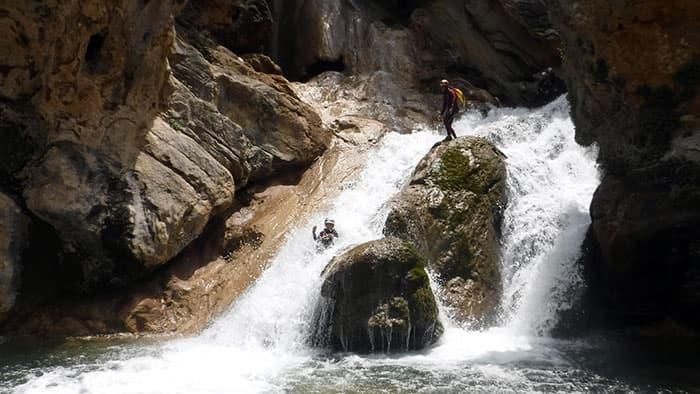 Slide in upper guadalquivir gorge