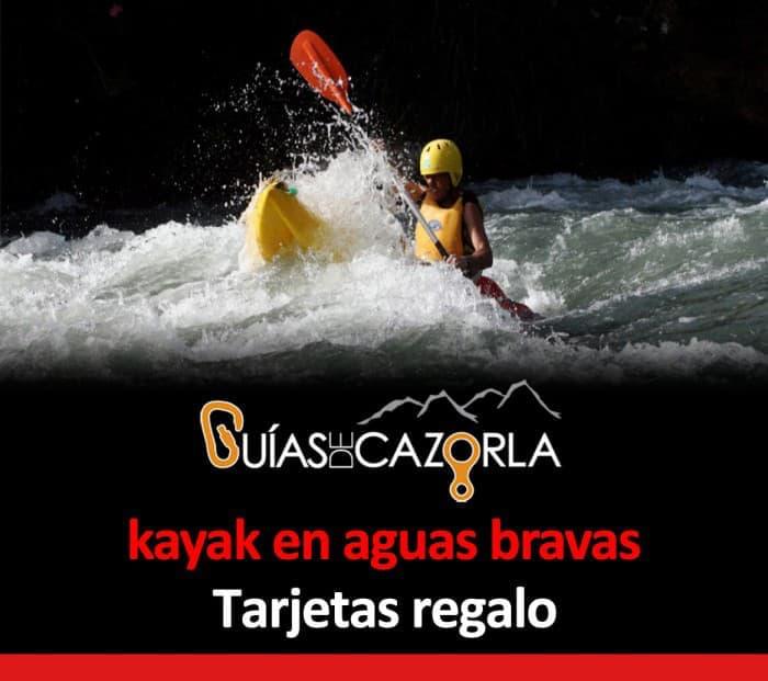 Tarjeta regalo Kayak-en-Cazorla rápidos