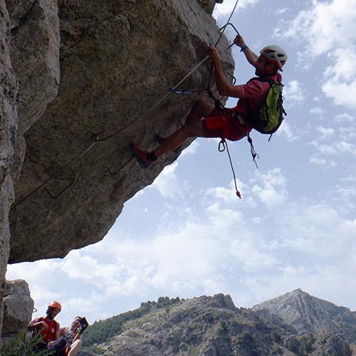 Vía ferrata de la Escaleruela en Cazorla